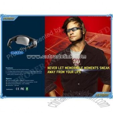 Camera Glasses/Video Recorder with 1.3 Mega Pixels