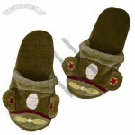 Camo Plane Children's Slippers with Applique and Foam Inner