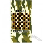 Camouflage Color Checkers Beach Game Towel