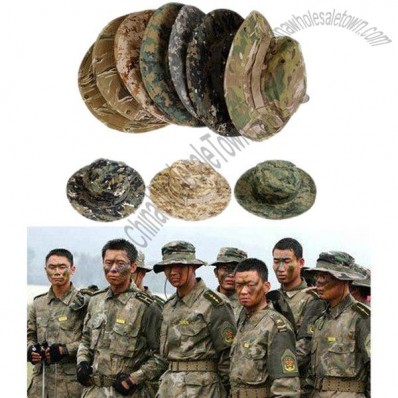 Camouflage Color Outdoor Sports Sunbonnet Fisherman Hat