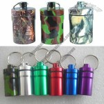 Camouflage Color Pill Box with Keyring