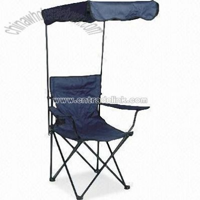 Camping Chair with Sun Shelter