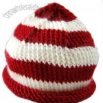 Candy Cane knit hat