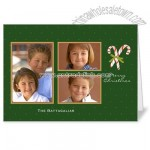 Candy Canes Green Holiday 5x7 folded card