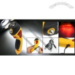 Car Auto LED Torch Safety Emergency Break Hammer Yellow Black w USB Cable