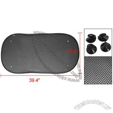 Car Auto Side Mesh Sun Shade Black + Soft Plastic Suction Cup
