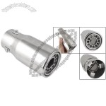 Car Auto Silver Tone Exhaust Extendion Muffler Pipe