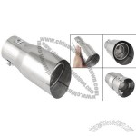 Car Auto Silver Tone Exhaust Extension Muffler Pipe