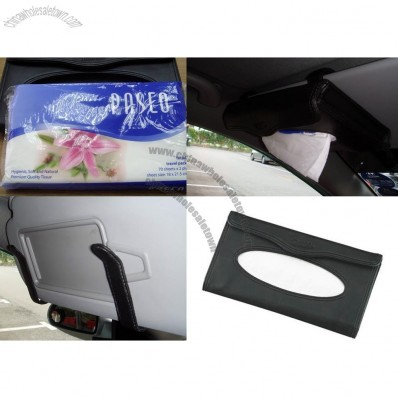 Car Auto Visor Leather Tissue Holder Case Cover