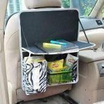 Car Back Seat Bag with Tray