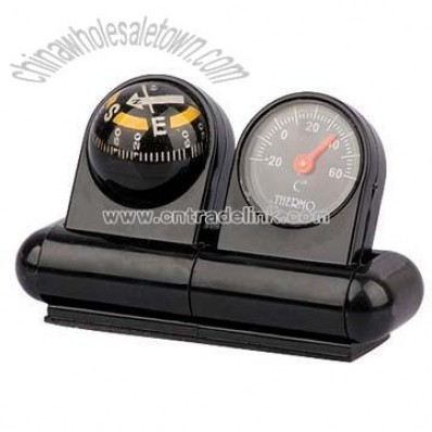 Car Compass and Thermometer