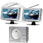 Car DVD/DIVX Player with 7 Inch Dual Screen with TV/Game