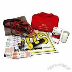 Car Emergency Kit, Includes Reflective Vest, Flashlight, Booster Cable and 19 Pieces First Aid Kit