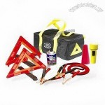 Car Emergency Kit, Includes Reflective Vest, Flashlight and Booster Cable