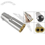 Car Gold Tone 2 Round Hole Outlet Exhaust Muffler Pipe