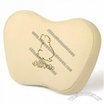 Car Memory Foam Waist Cushion 3d Back Cushion Pillow With Bear Pattern Khaki