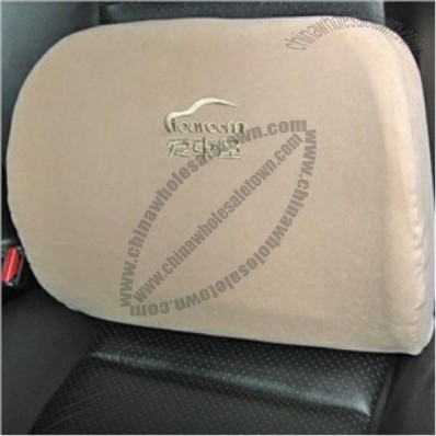 Car Memory Foam Waist Support Cushion Low Back Cushion Soft Pillow Khaki