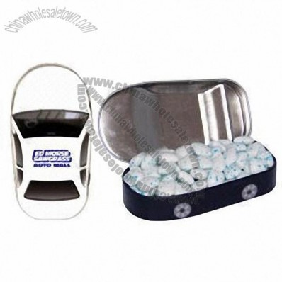 Car Mint Tin Filled With Sugar Free Gum