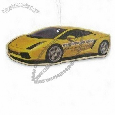 Car Paper Air Freshener with Car-shaped