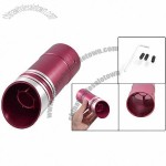 Car Red Aluminum Exhaust Tailpipe Round Muffler Silencer Tip