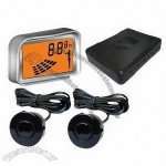 Car Reverse System with Three Colors LCD Display Reversing Distance and Built-in Sound Alarm