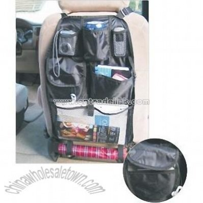 Car Seat Back Organizer with CD Holder