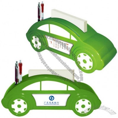 Car Shaped Desk Calendar with Pen Stand