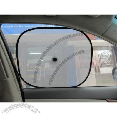 Car Side Black Nylon Sunshade