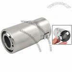 Car Silver Tone Stainless Steel Tail Exhaust Pipe Muffler