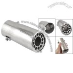 Car Silver Tone Steel Exhaust Muffler Extension Pipe