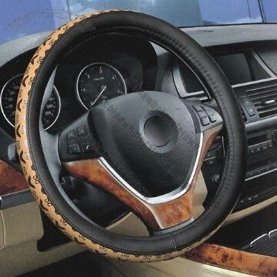 Car Steering Wheel Cover, Made of PU Leather, 38 to 39cm