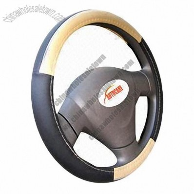 Car Steering Wheel Cover with Black Rubber Ring Interior Core