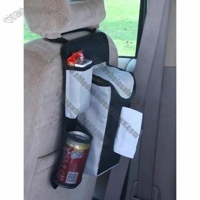 Car Tissue Holder, Auto Fabric Back Seat Organizer with Tissue Bag