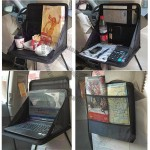 Car Tray Seat Laptop Table Food Holder Black