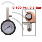 Car Truck Motorbike Tire Air Pressure Gauge Meter 0-7 Bar 0-100 Psi