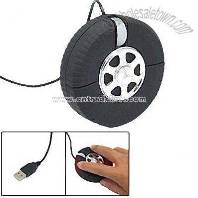 Car Tyre Shaped USB Optical Mouse