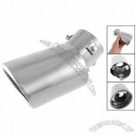 Car Vehicle Metal Exhaust Rear Pipe Silencer Muffler Tip Silver Tone
