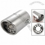 Car Vehicle Silver Tone Exhaust Rear Pipe Round Silencer Muffler Tip