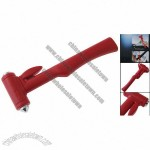 Car Window Rescue Emergency Cut Break Red Safety Hammer