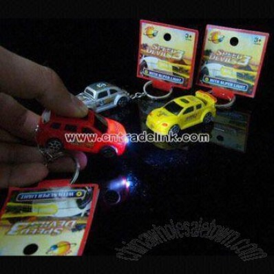 Car-shaped LED Keychain