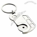 Car-shaped Metal Trolley Coin Keychains