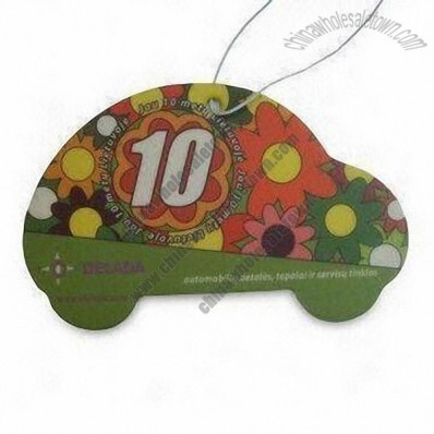 Car-shaped Paper Air Freshener with Colorful Print