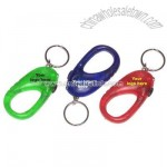 Carabiner, flashlight, key ring