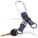 Carabiner Adventure Double Keyring Detachable Keychain