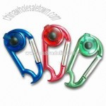 Carabiner LED Light with Beer Bottle Opener
