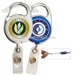 Carabiner badge reel with 40