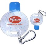 Carabiner key chain with hand cleaner