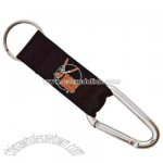 Carabiner keychain with attached strap and key ring