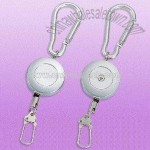 Carabiner-style Metal Badge Reel with Carabiner Hook on Top