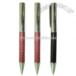 Carbon Fiber Ballpoint Pen with Twist Action and Shine Chrome Finish